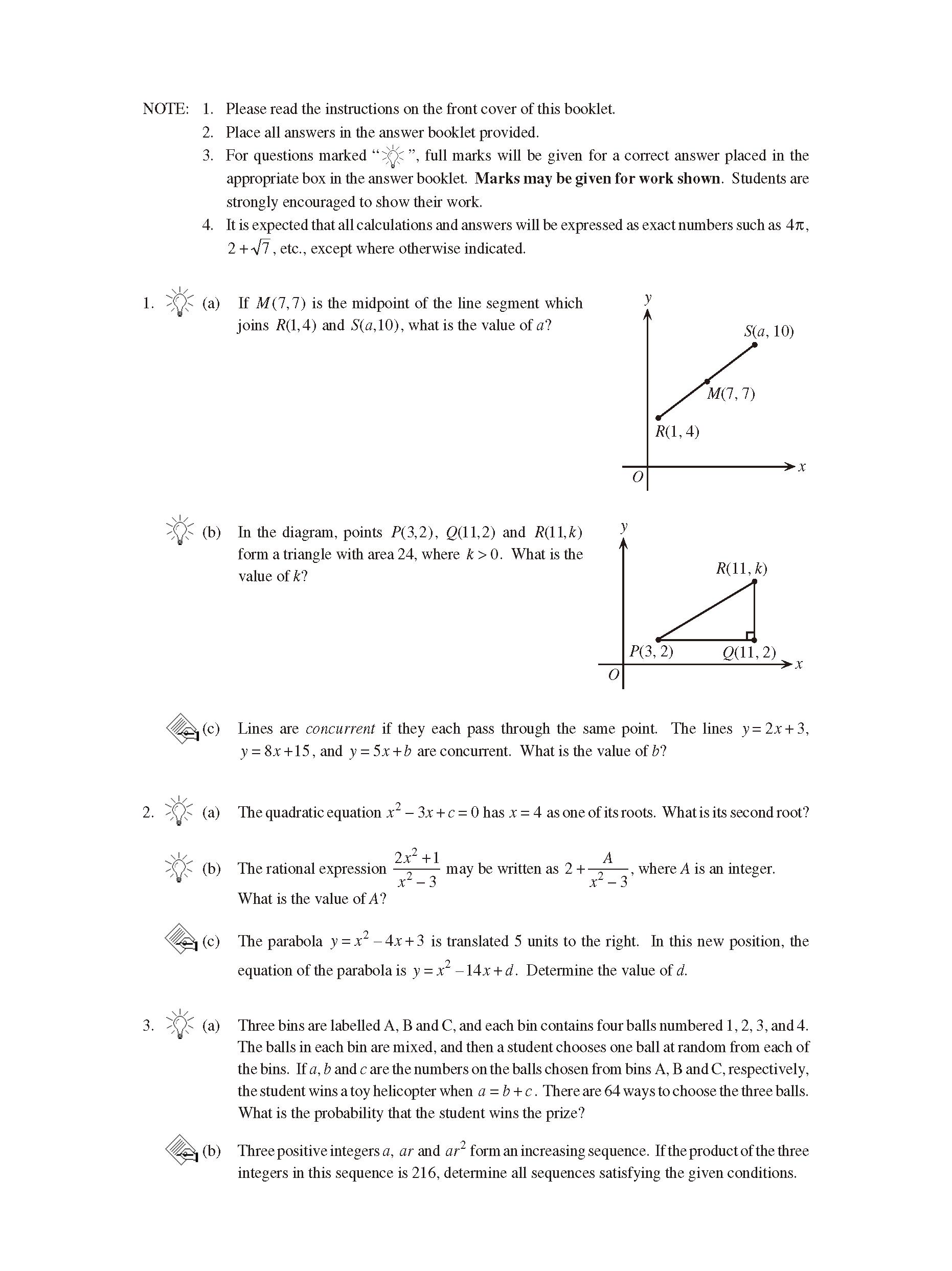加拿大数学竞赛CMC-Euclid欧几里德数学竞赛2002年真题