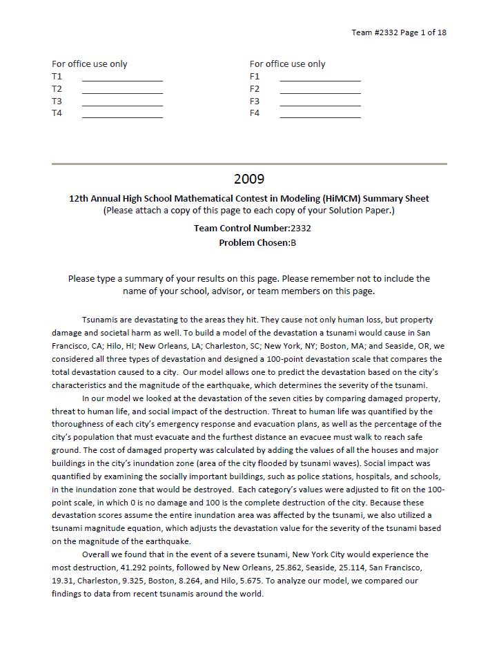 2009HIMCM数模竞赛B题论文2332