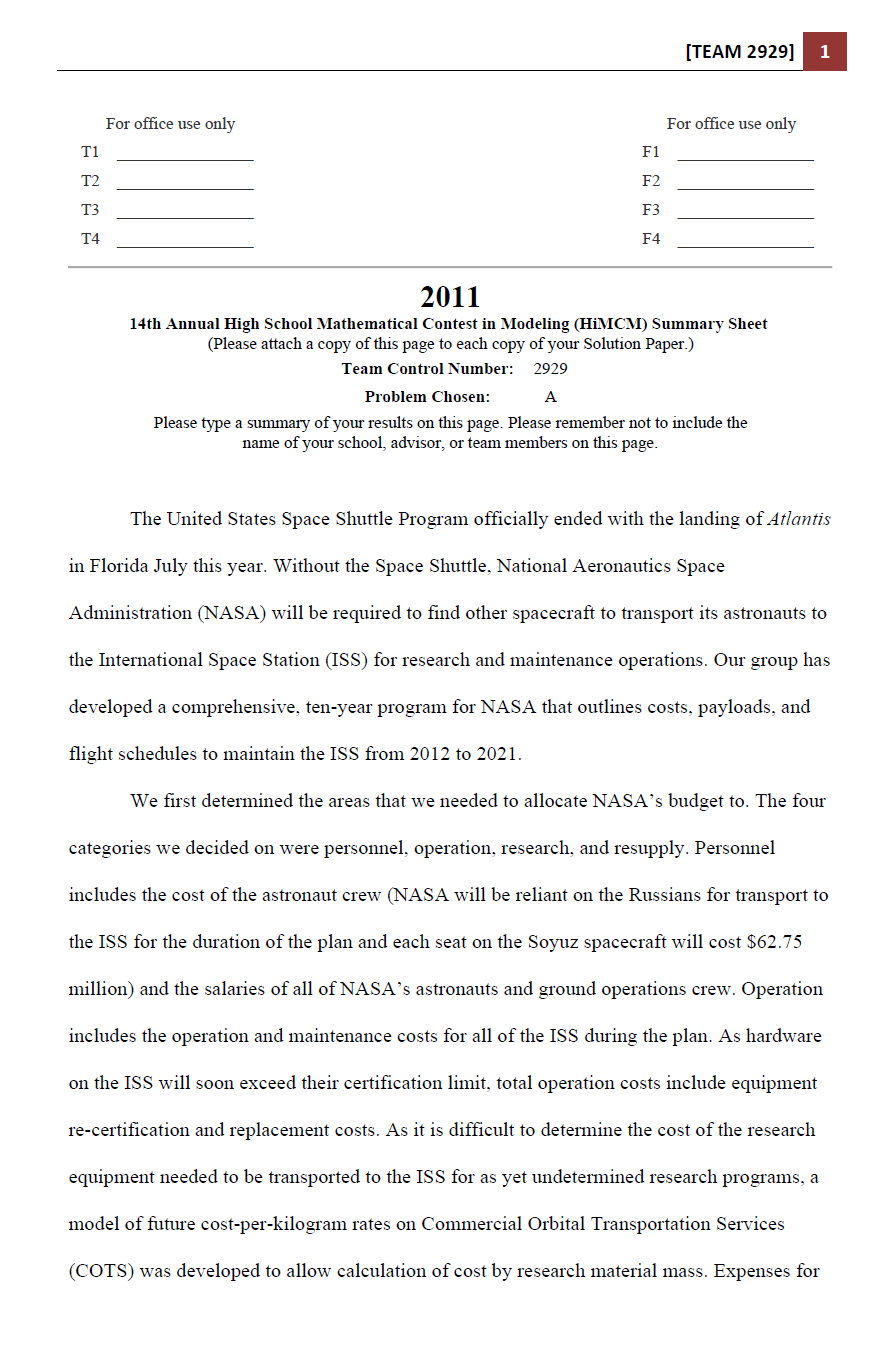 2011HIMCM数模竞赛A题论文2929
