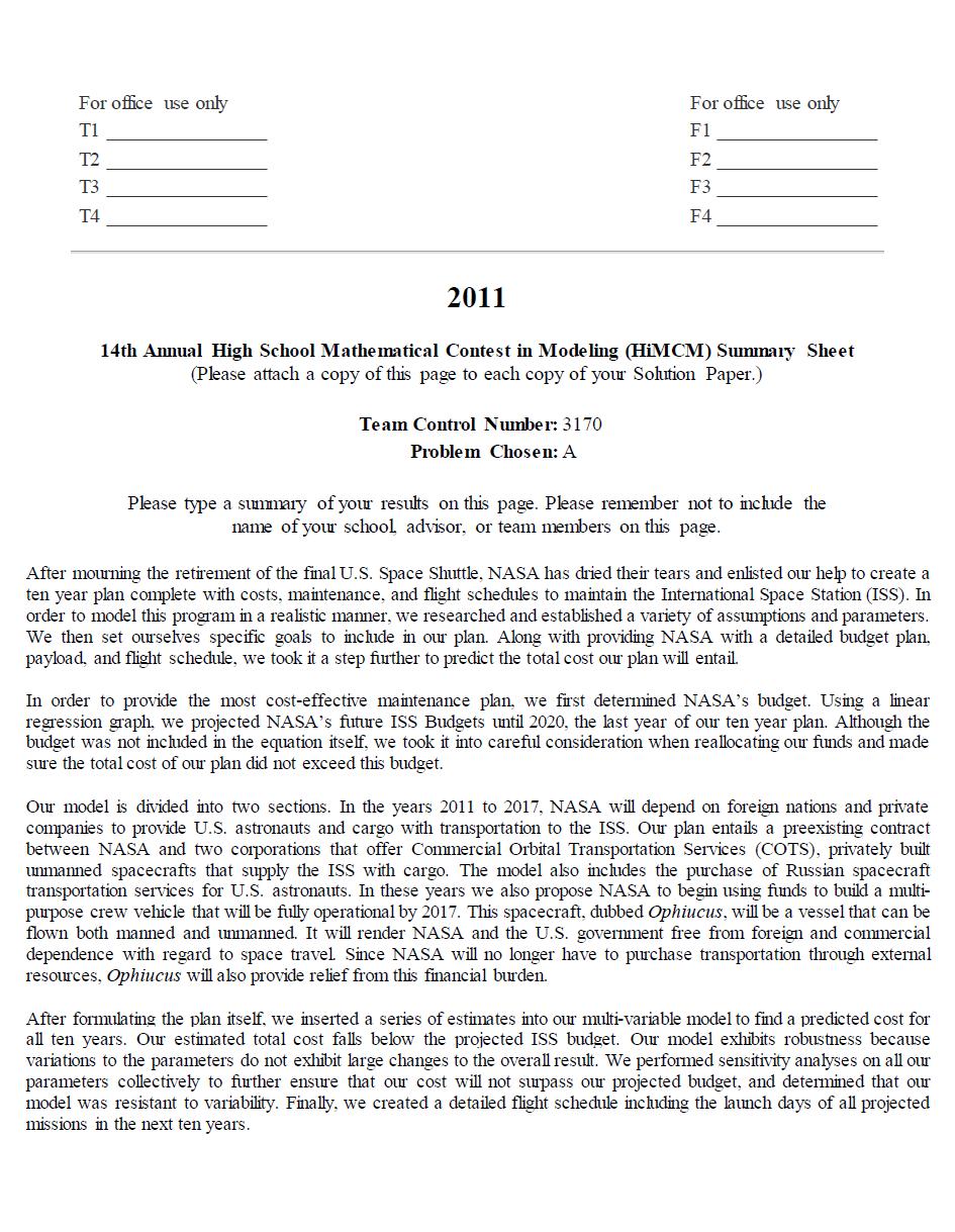 2011HIMCM数模竞赛A题论文3170