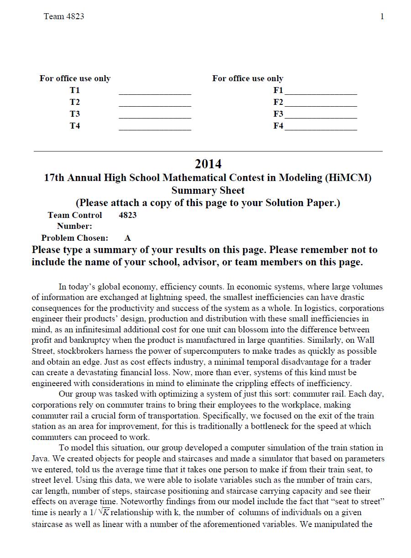 2014HIMCM数模竞赛A题论文4823