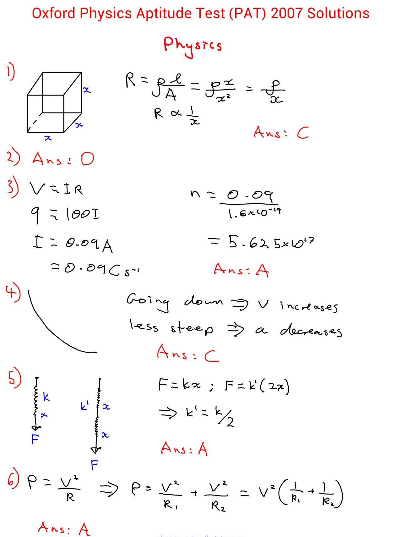 pat2007solutions真题与答案解析