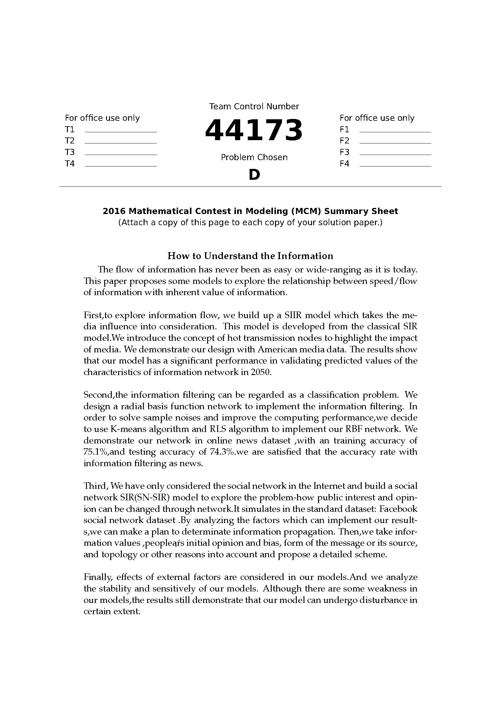 2016ICM数模竞赛D题论文44173