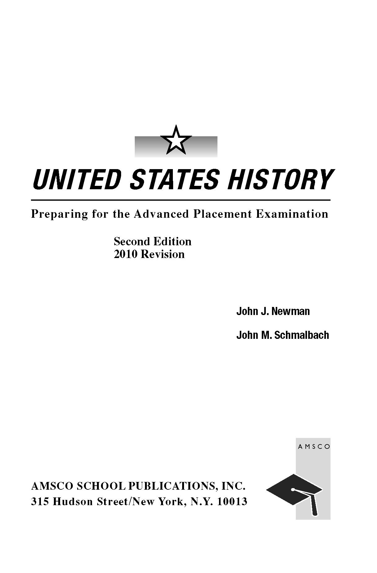 历年国际ap united states history课程教材课本
