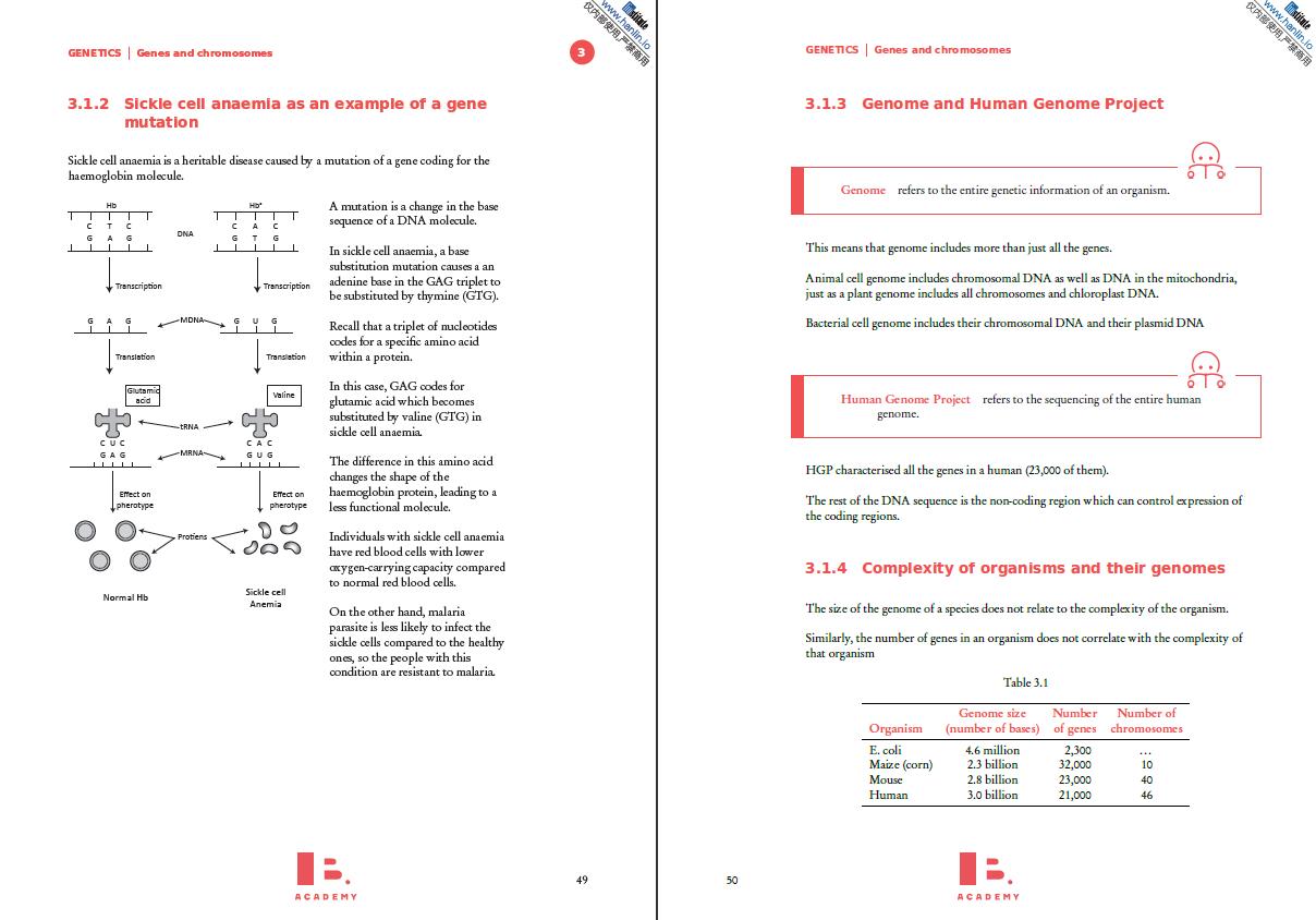 翰林学院IB独家生物Study Guides