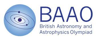 2020ASDAN BAAO英国天文学和天体物理学奥赛