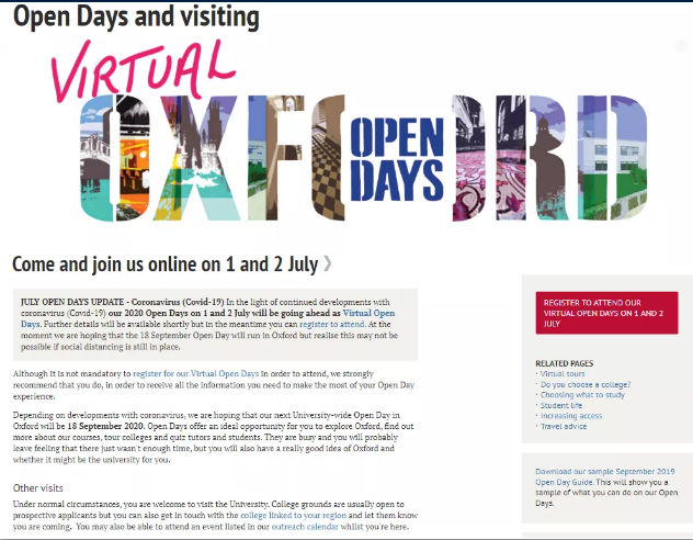 疫情也不能阻挡我去看G5大学!G5虚拟开放日提上日程,快来报名参加吧~