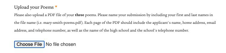 伦纳德·L·米尔伯格'53高中诗歌奖开赛了!