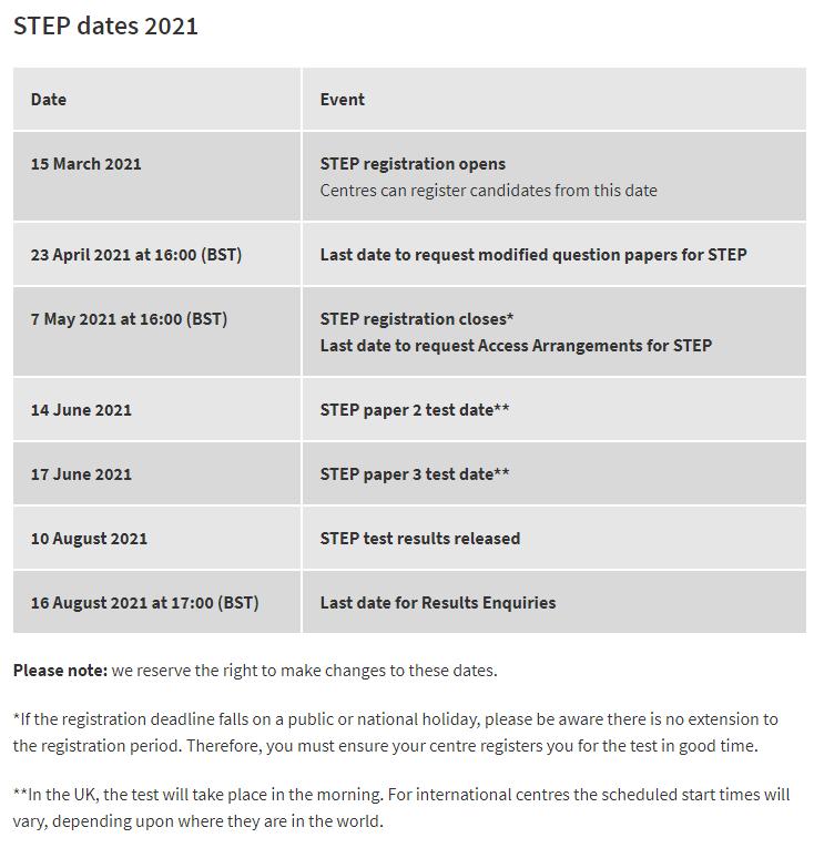 剑桥STEP报名即将开启,今年向所有学生开放!速来查看考试细节!