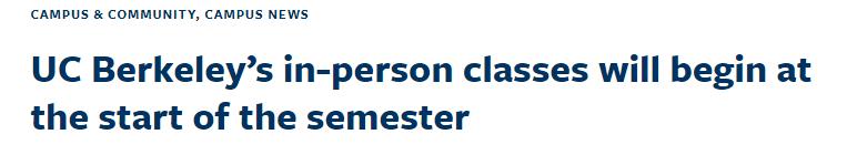 斯坦福/哥大等校官宣放宽戴口罩限制!UCB提前一周恢复线下授课!