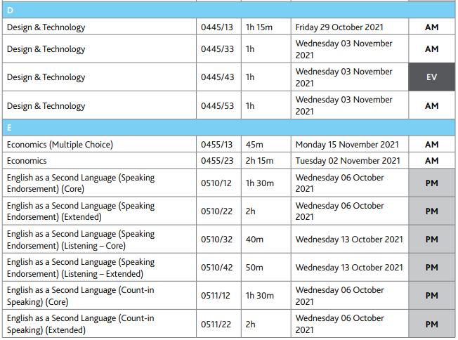 必存!CAIE考试局公布2021秋季IGCSE、A-Level报名及考试时间!