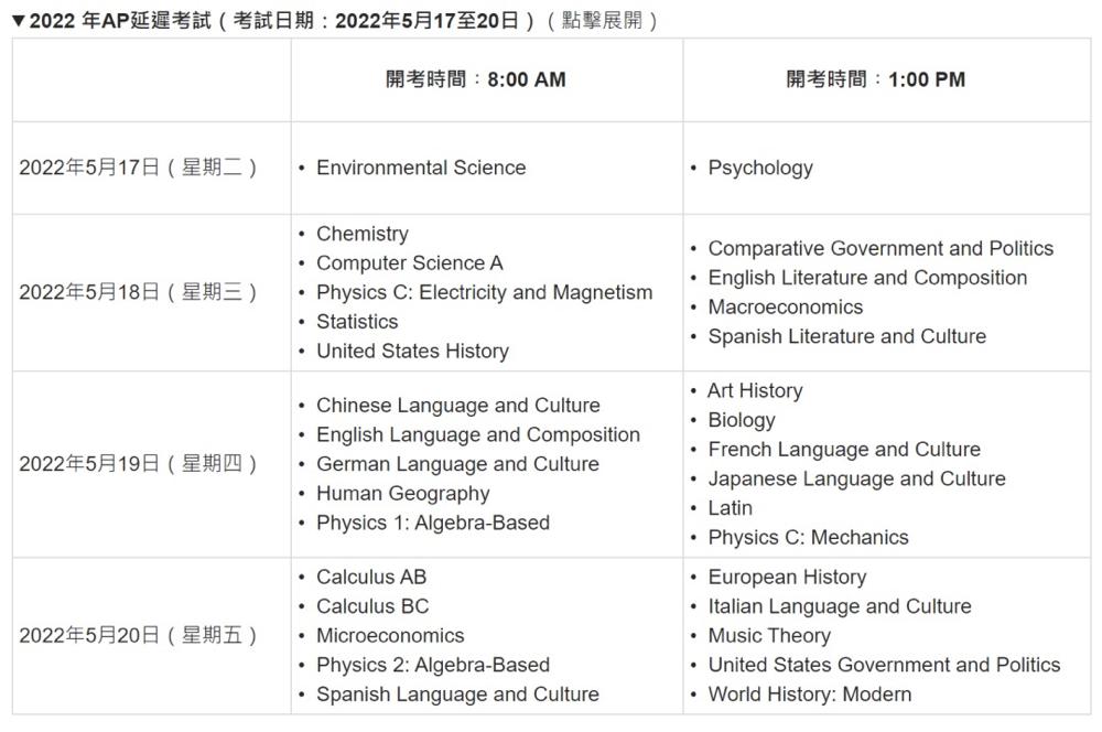 2022年AP香港报名10月11日正式开放!附报考指南