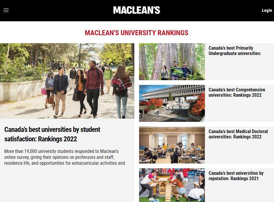 2022麦考林加拿大大学排名最新发布!UBC拿下两项理工科专业第一!